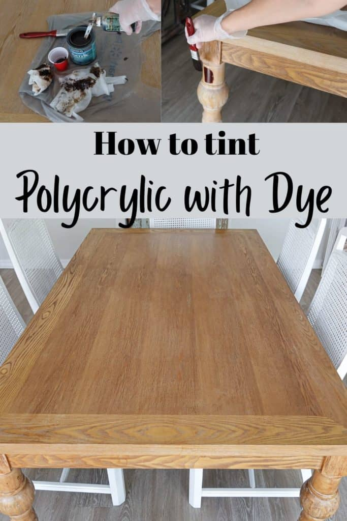 how to tint polycrylic with dye