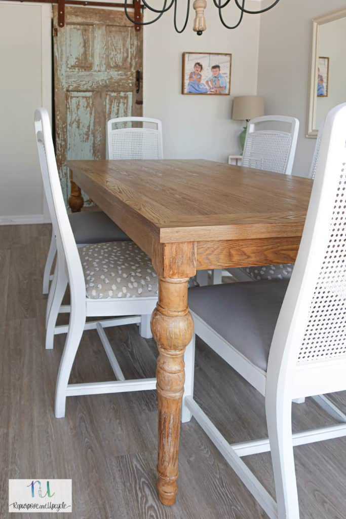dining room with tinted sealer