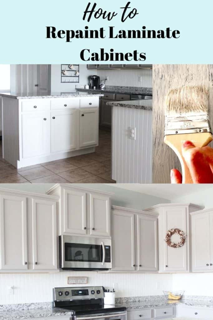 how to repaint laminate kitchen cabinets