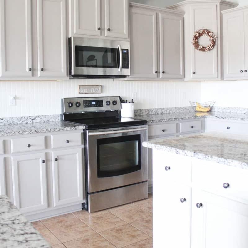 repaint laminate cabinets
