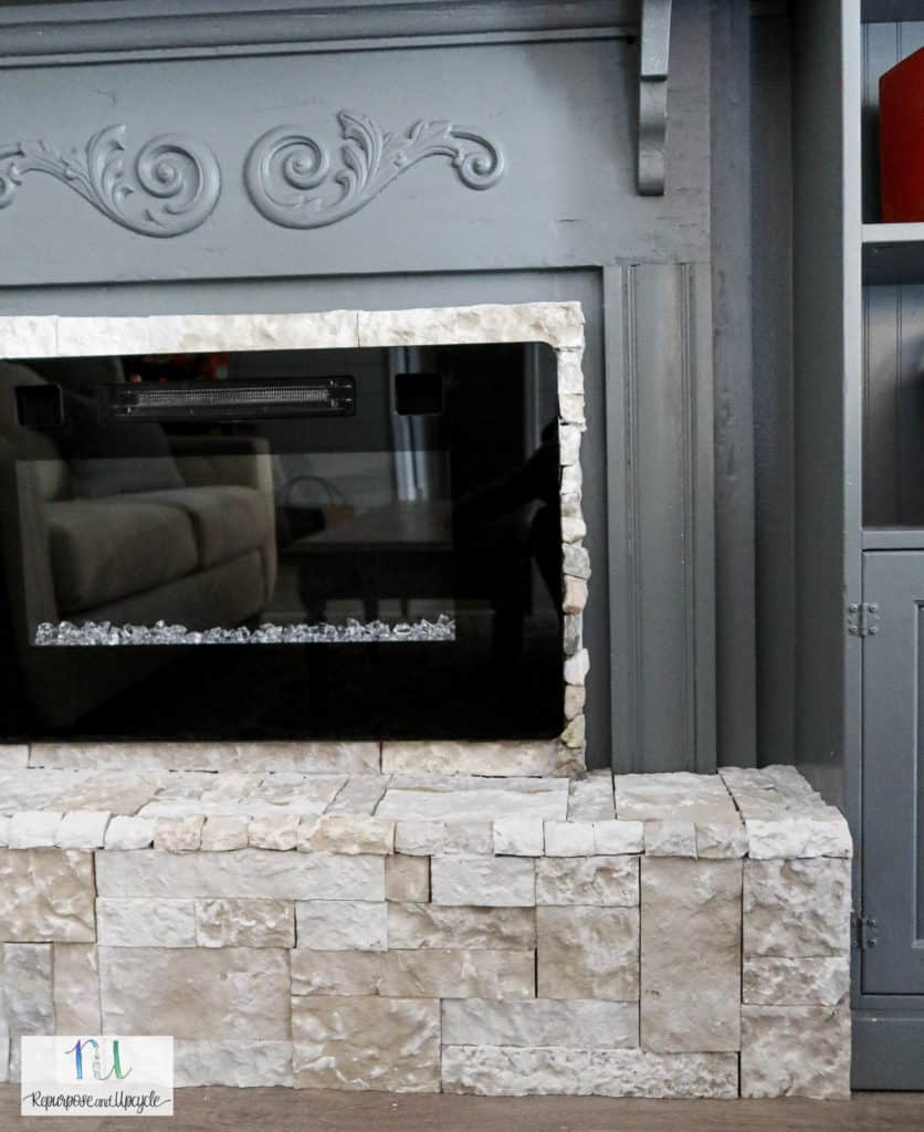 raised fireplace hearth for our electric fireplace