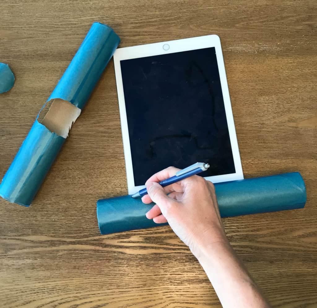 DIY tablet stand vertical