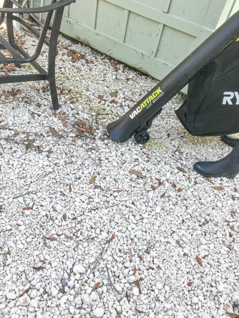 Using the Vac Attack leaf vacuum