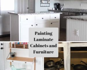 painting laminate cabinets and furniture
