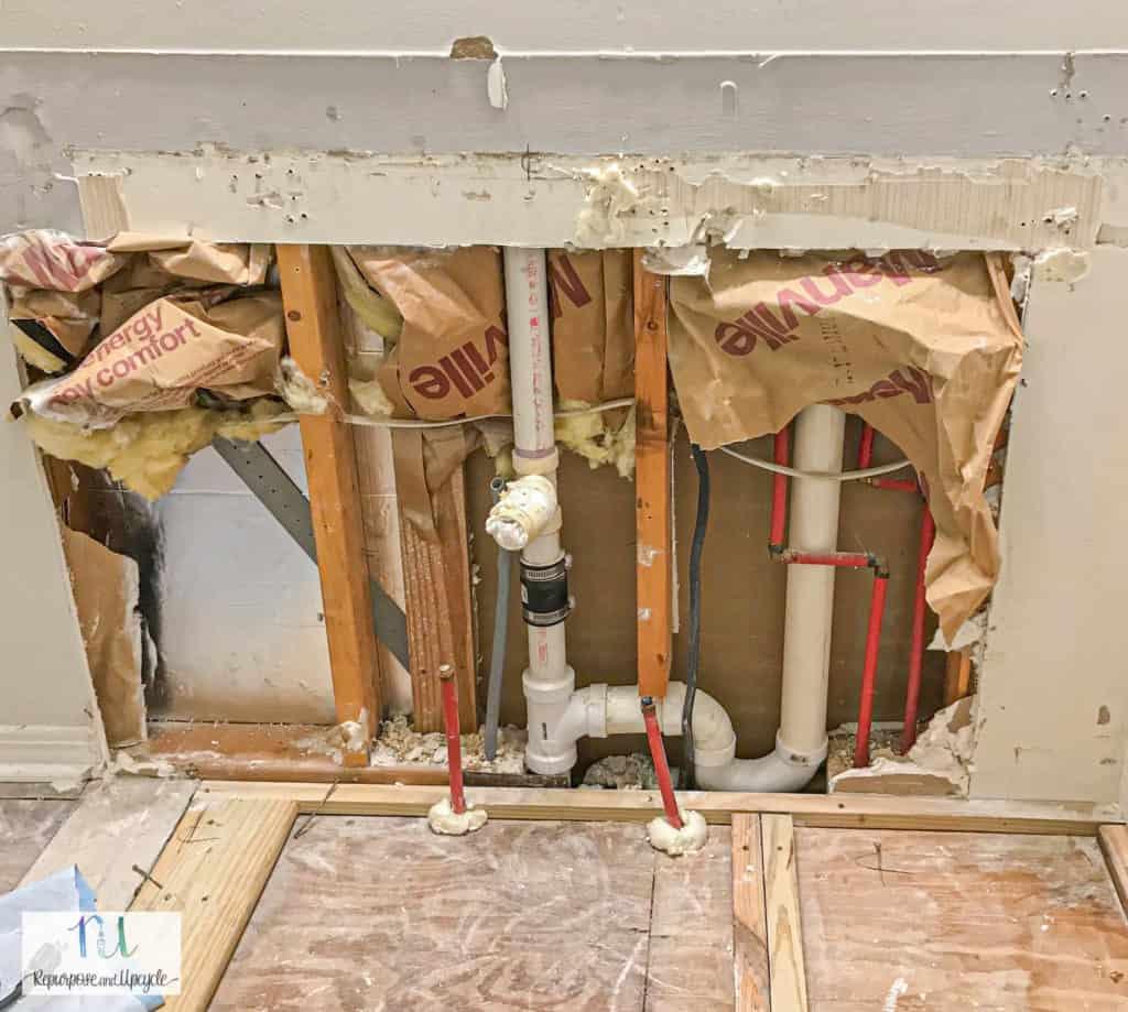 single sink rough in plumbing