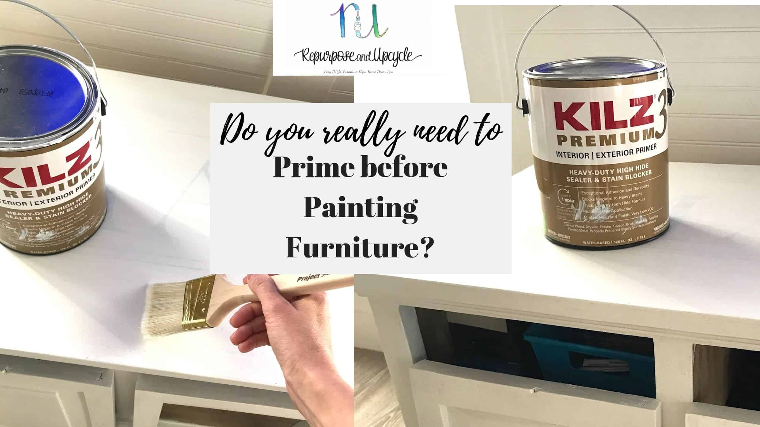 do you need to prime before painting furniture?