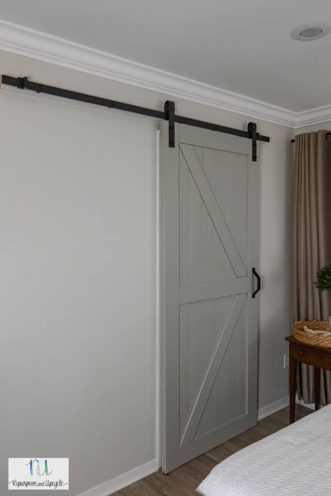 smartstandard sliding barn door installed