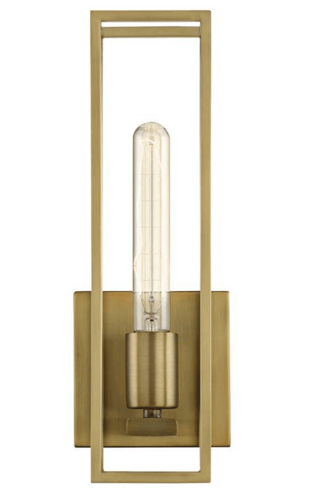 geometric sconce light