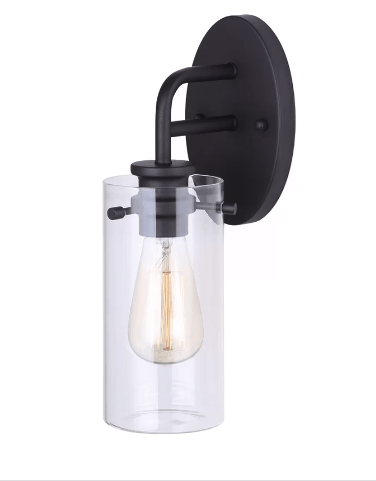 black sconce light