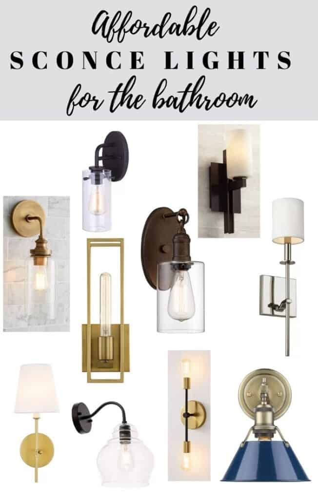 affordable sconce lighting for the bathroom