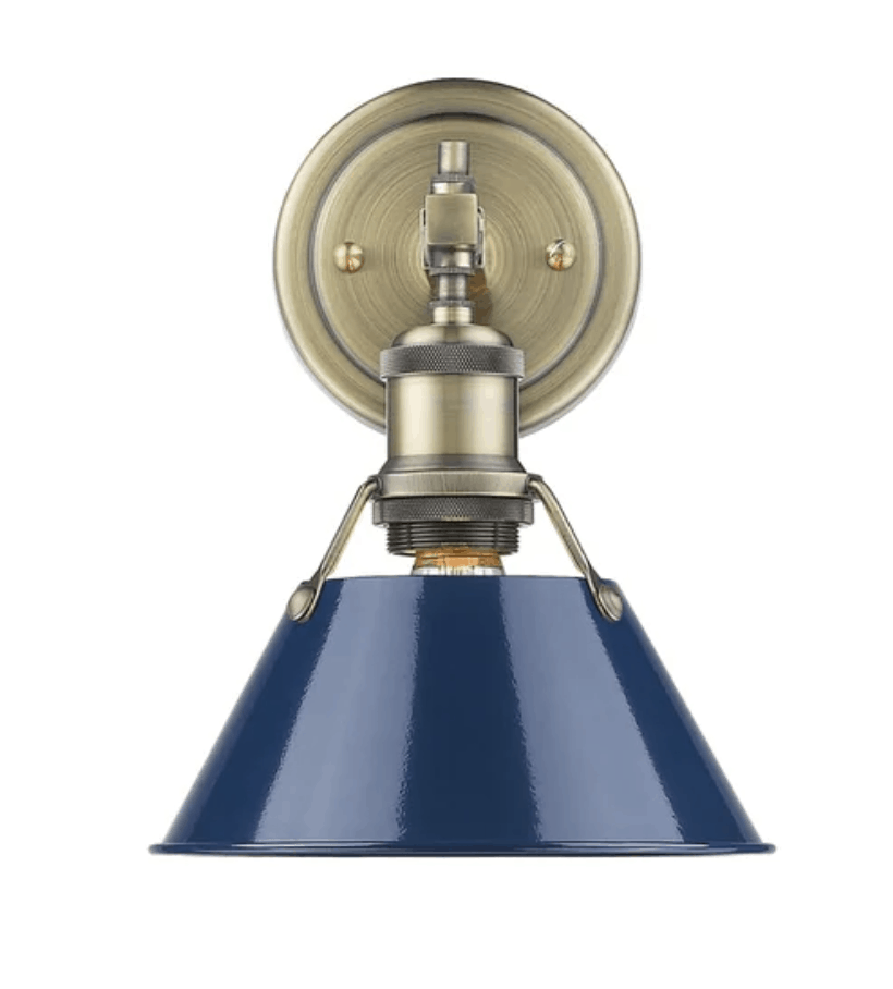 blue sconce light
