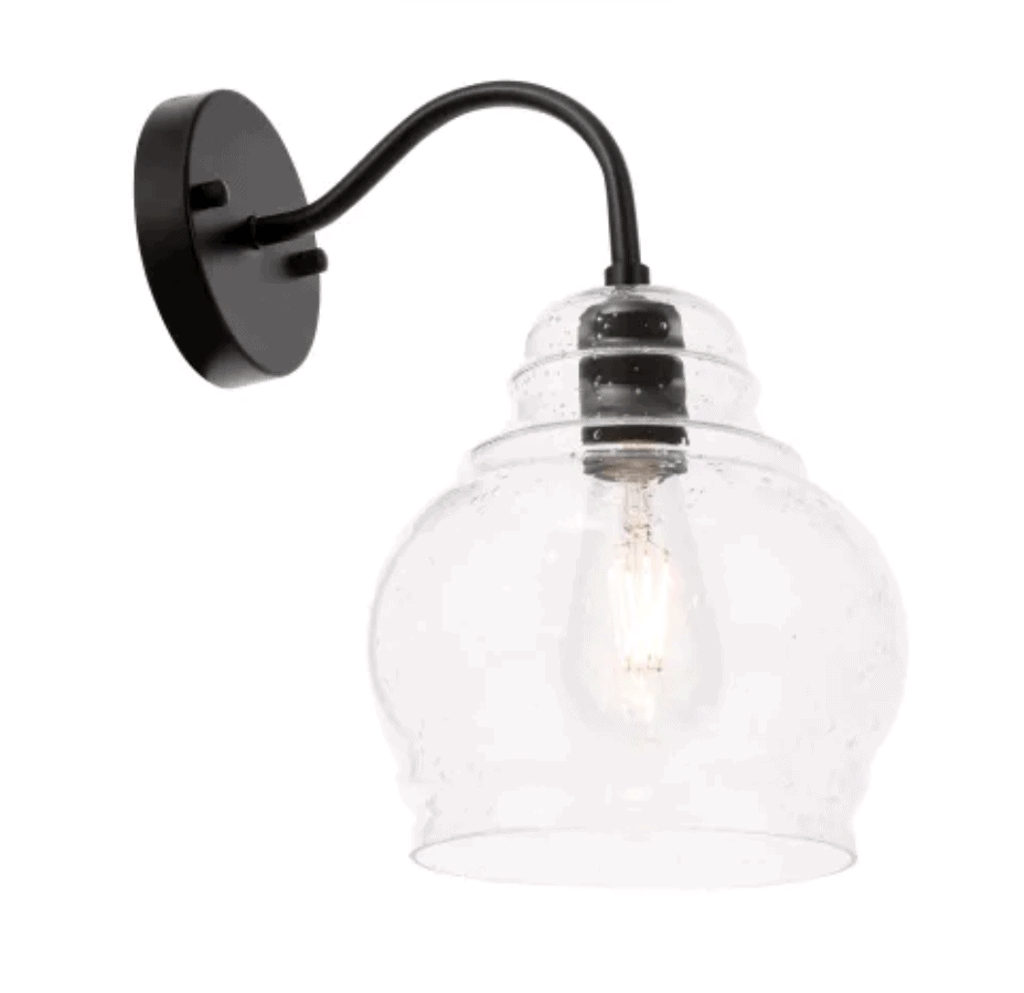 glass bulb sconce light