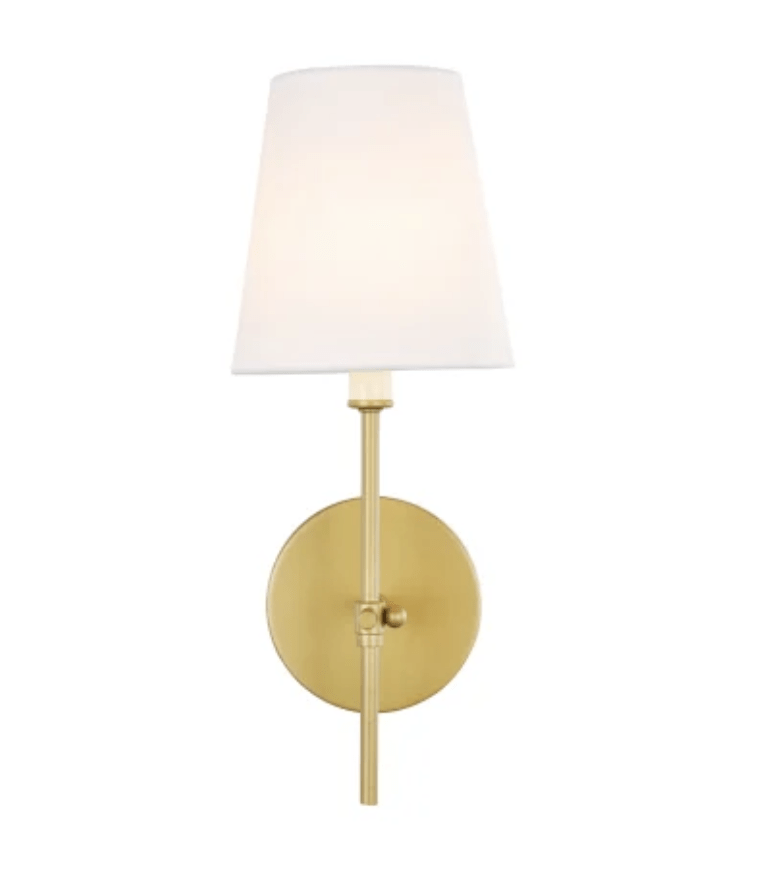 Sconce light with shade