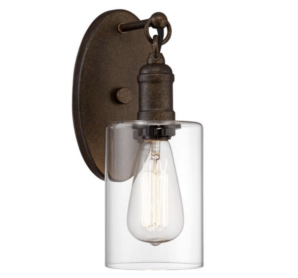 hanging sconce light