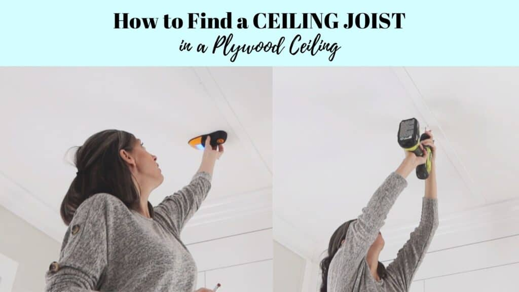 how to find a ceiling joist in a plywood ceiling