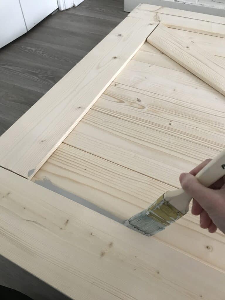painting the SmartStandard barn door