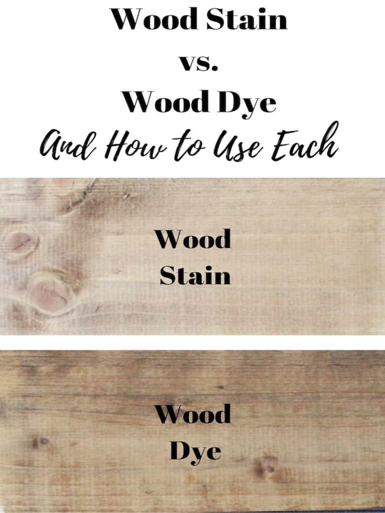 wood stain vs. wood dye