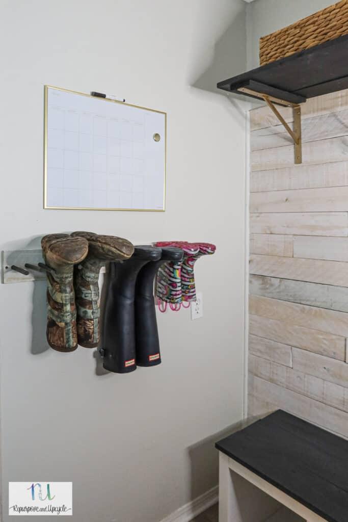 DIY boot rack