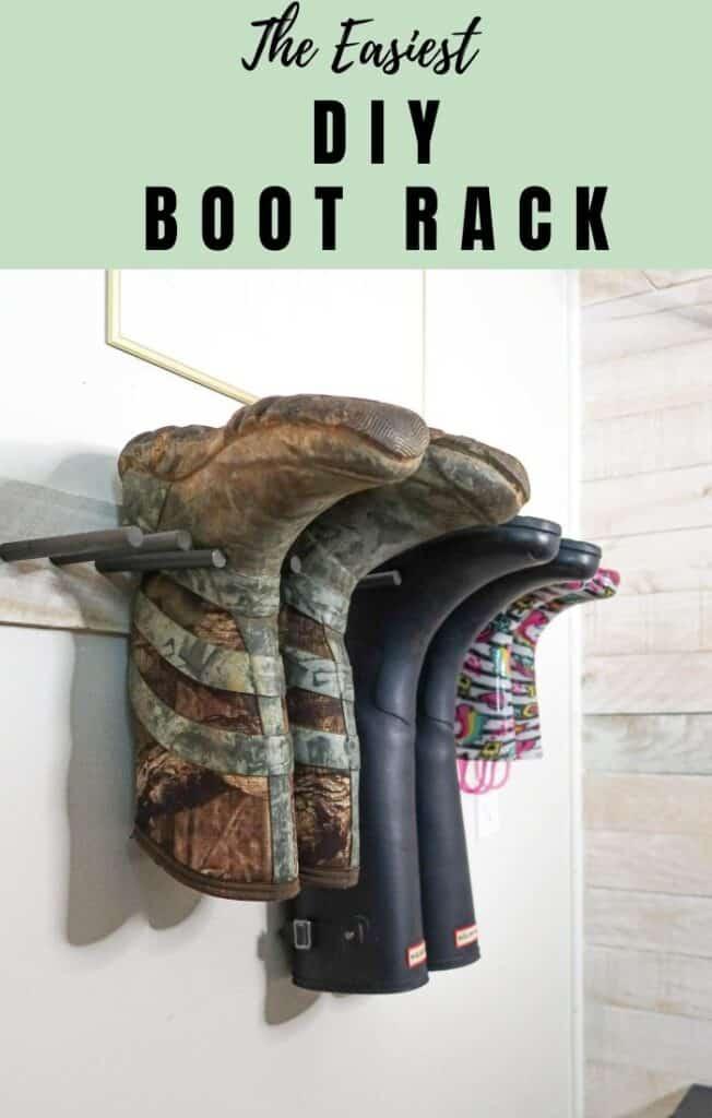 easiest DIY boot rack