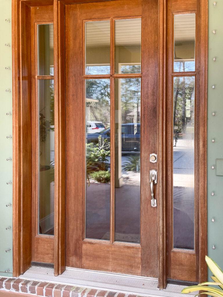 Oak wood door