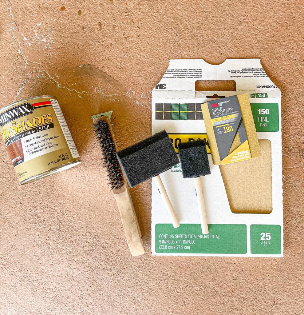 refinishing wood door supplies
