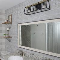 Rustix wall boards in bathroom