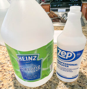 vinegar and water mixture to clean wood furniture