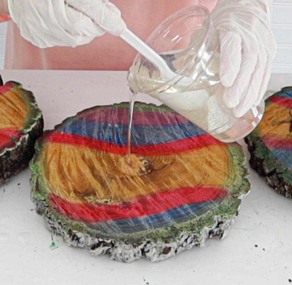 applying the craft resin
