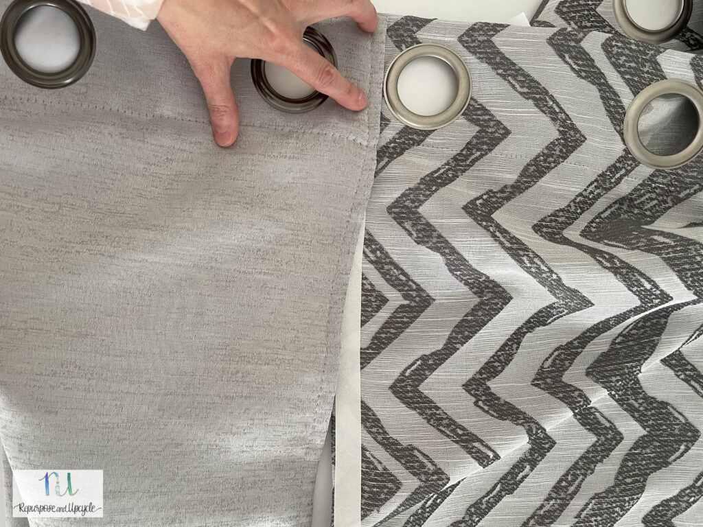 attaching two curtain panels with no sew tape