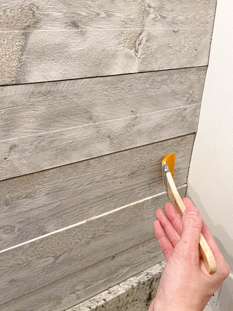 sealer on wood wall boards