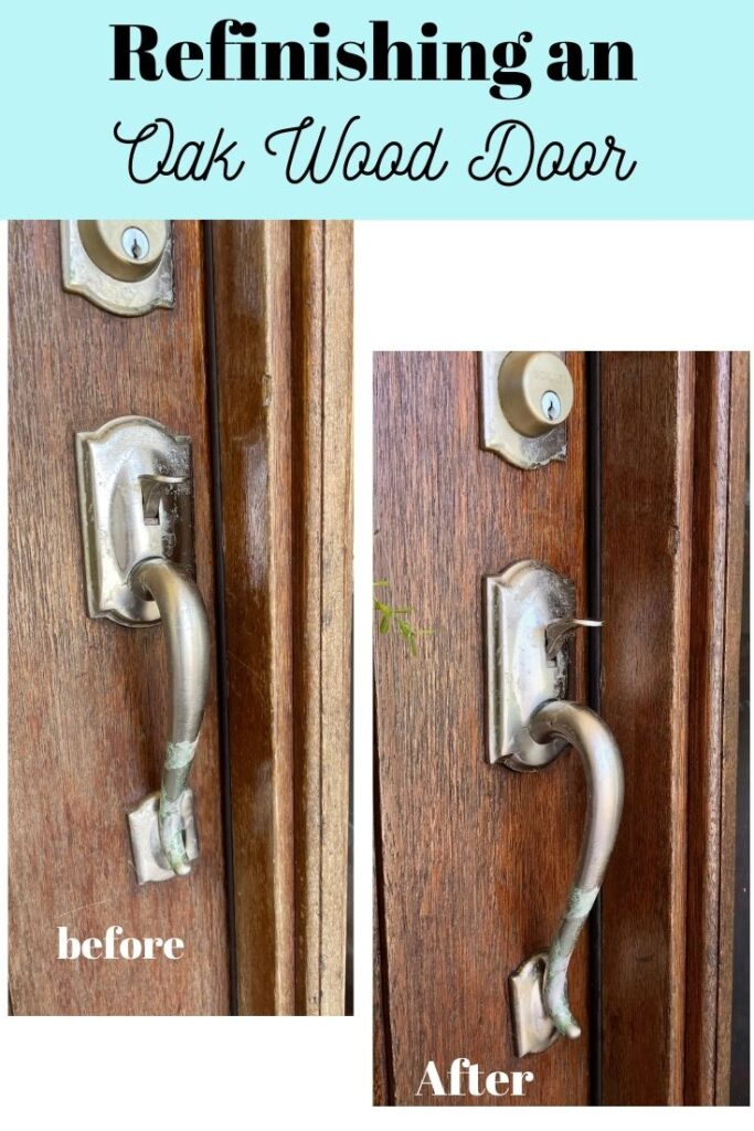 refinishing an oak wood door