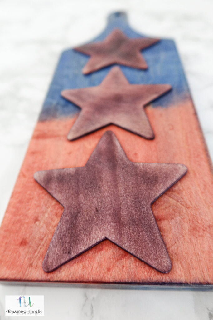 Fourth of July Patriotic Cutting board