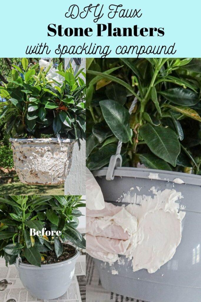 DIY faux stone planters