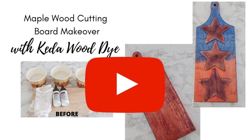 how to use keda dye with cutting board makeover