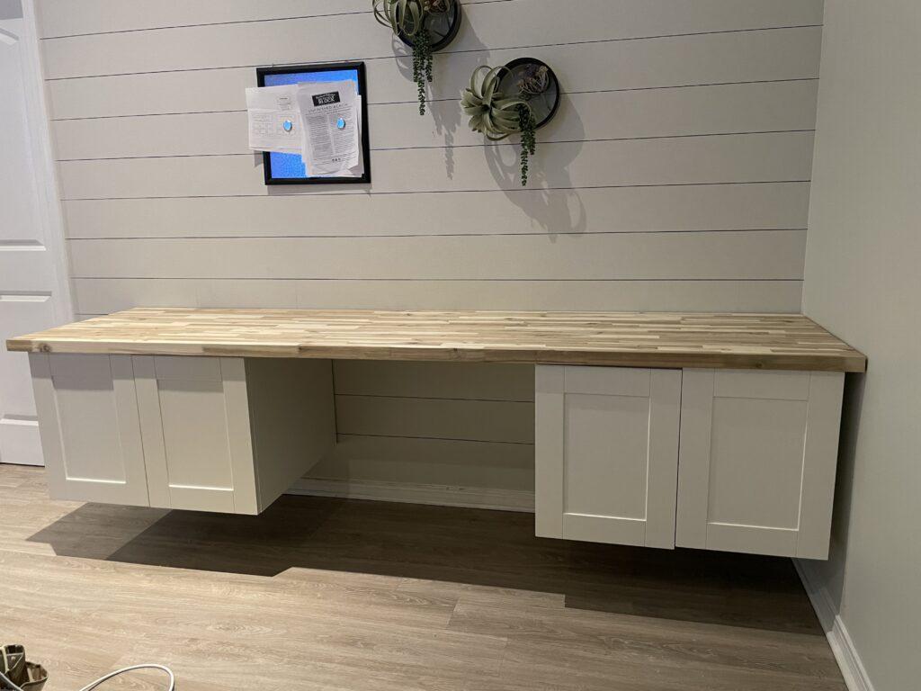 DIY floating modern desk unfinished