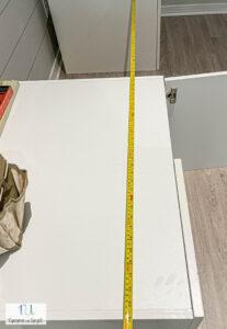 measuring for DIY floating desk