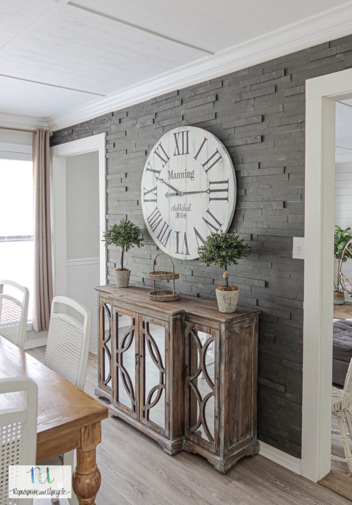 Slate-ish accent wall