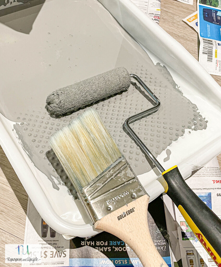 angle brush and fine finish roller