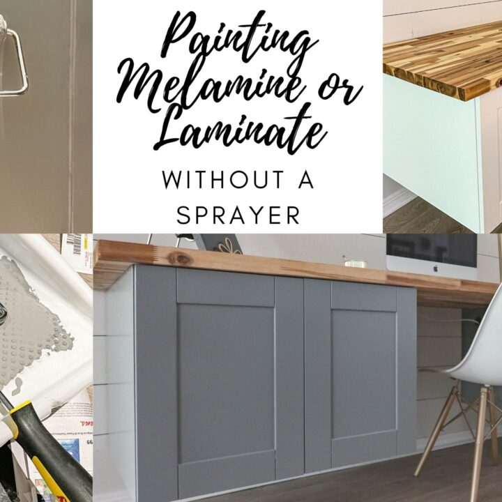 painting melamine or laminate without a paint sprayer