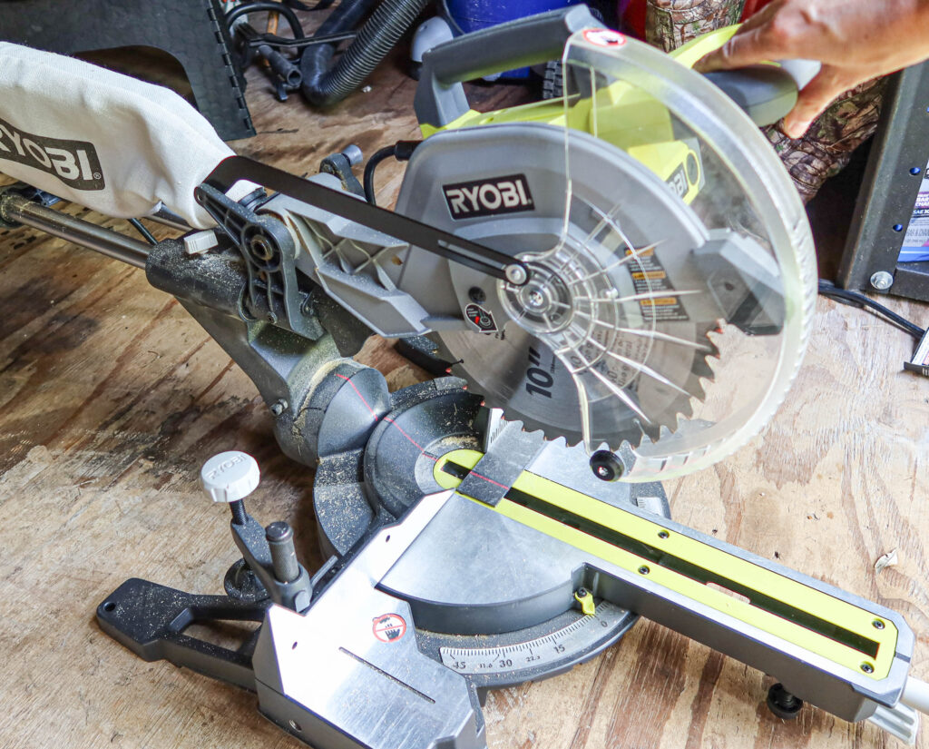 cutting Slate-ish with a miter saw