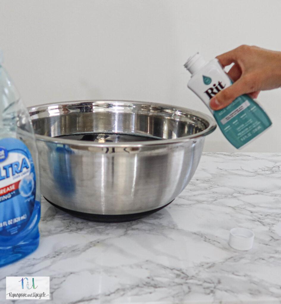 pouring Rit Dye