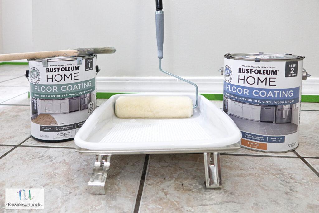 Rust-Oleum home floor coat paint for tile floors