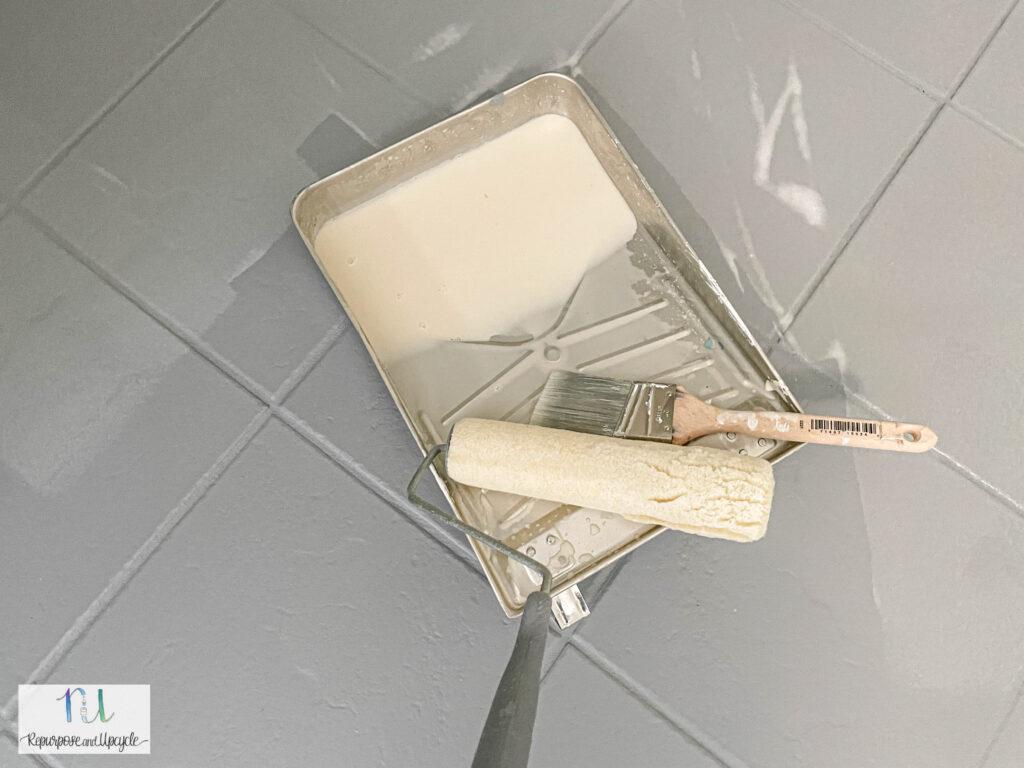 using Rustoleum Home floor coating sealer