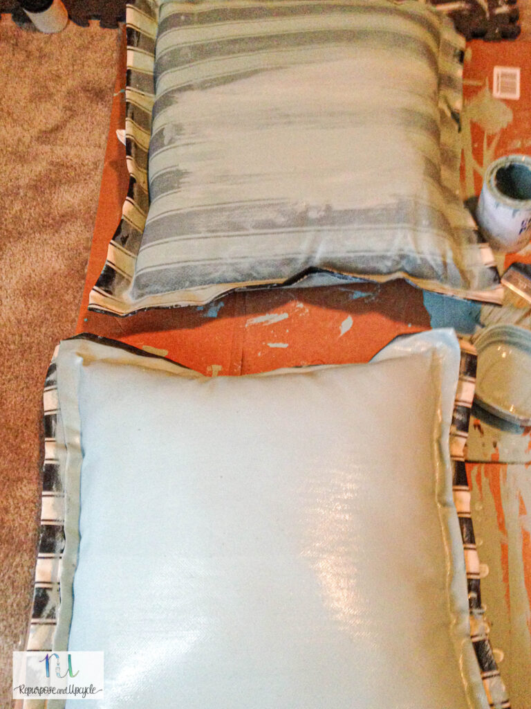 painting fabric with chalk paint