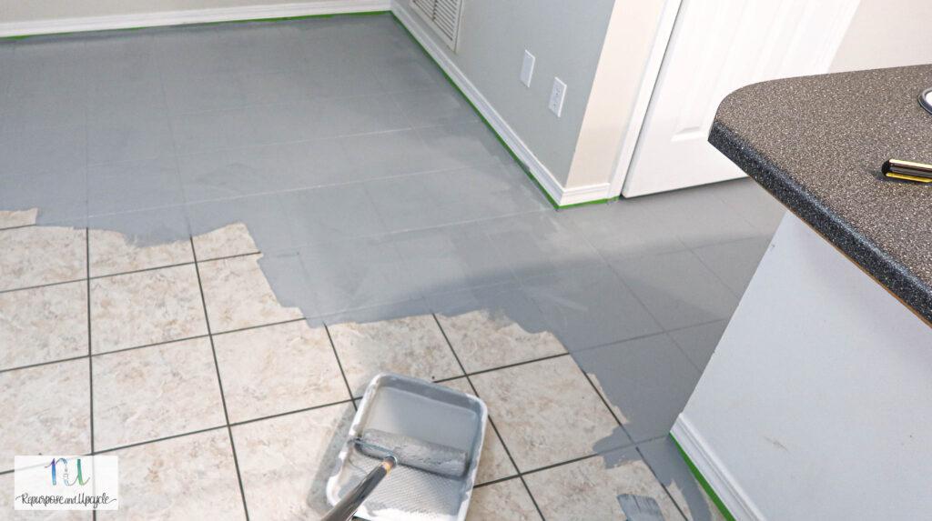 using Rust-Oleum floor paint on tile