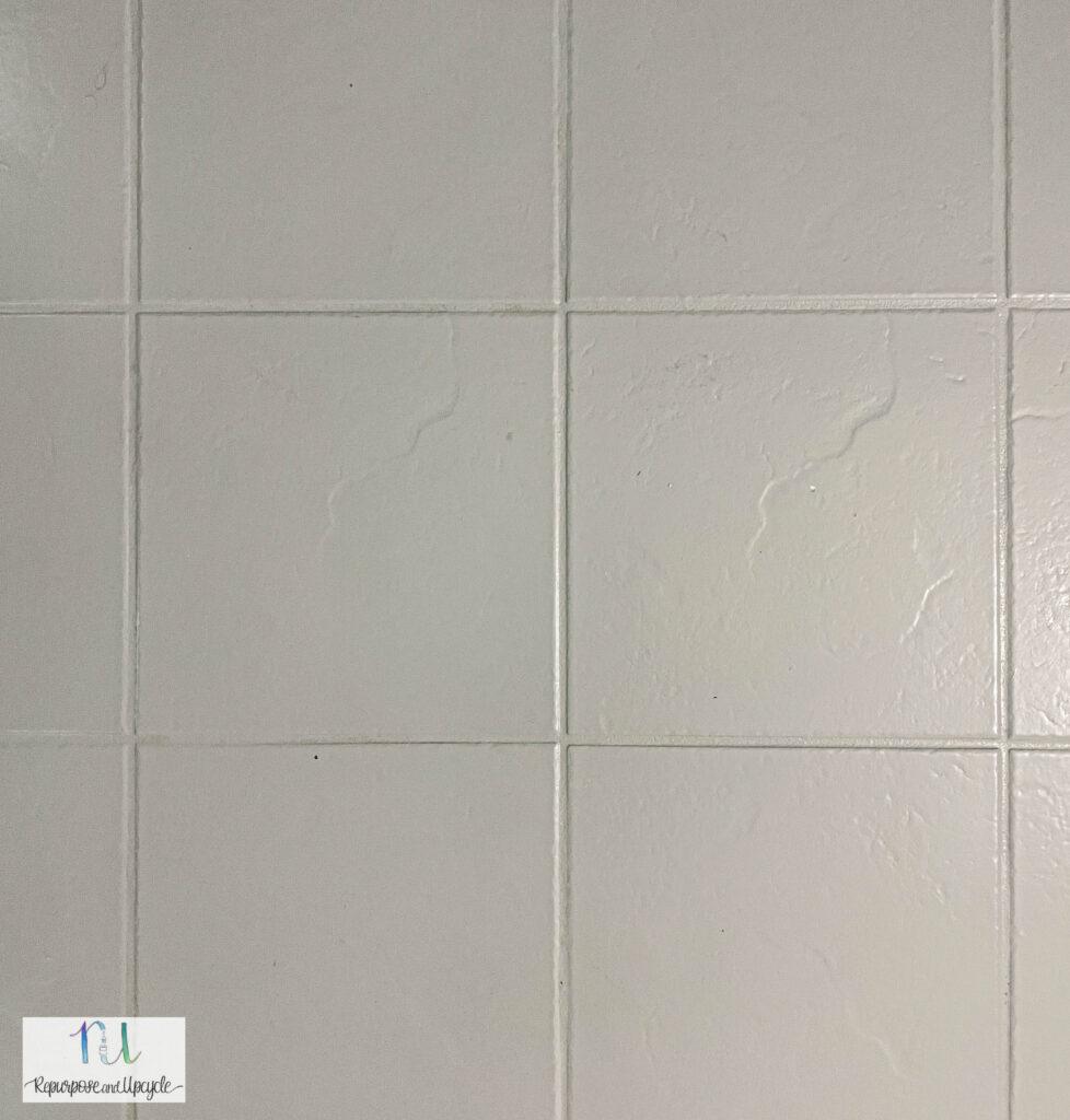 painted tile with Rust-Oleum floor paint