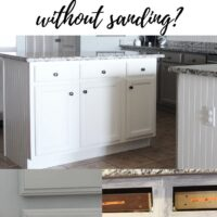 can you paint kitchen cabinets without sanding?