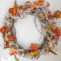 DIY Dollar Tree fall wreath supplies