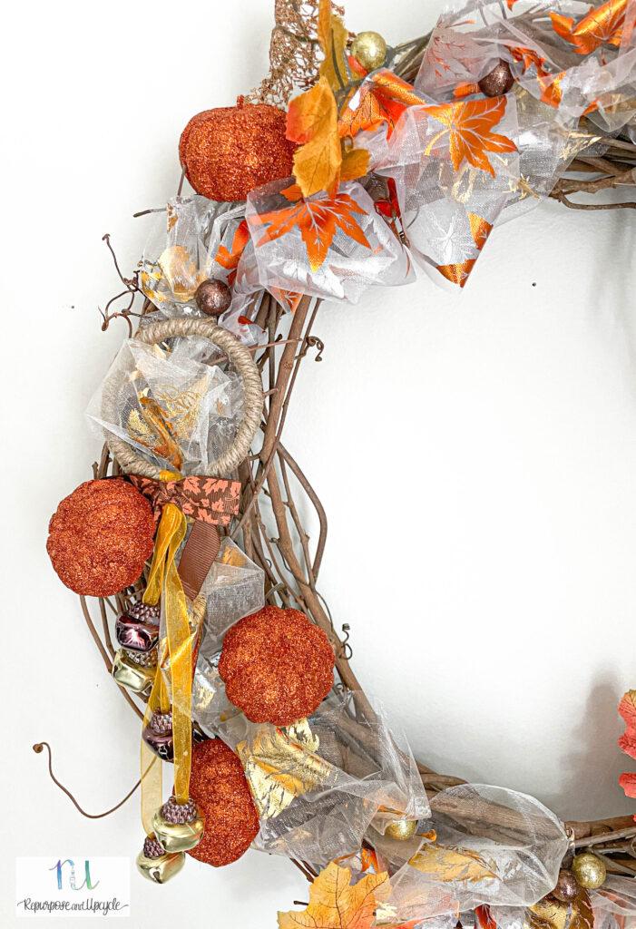 DIY fall wreath Dollar Tree