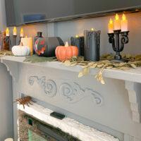 Halloween mantel decor from Target Dollar Spot